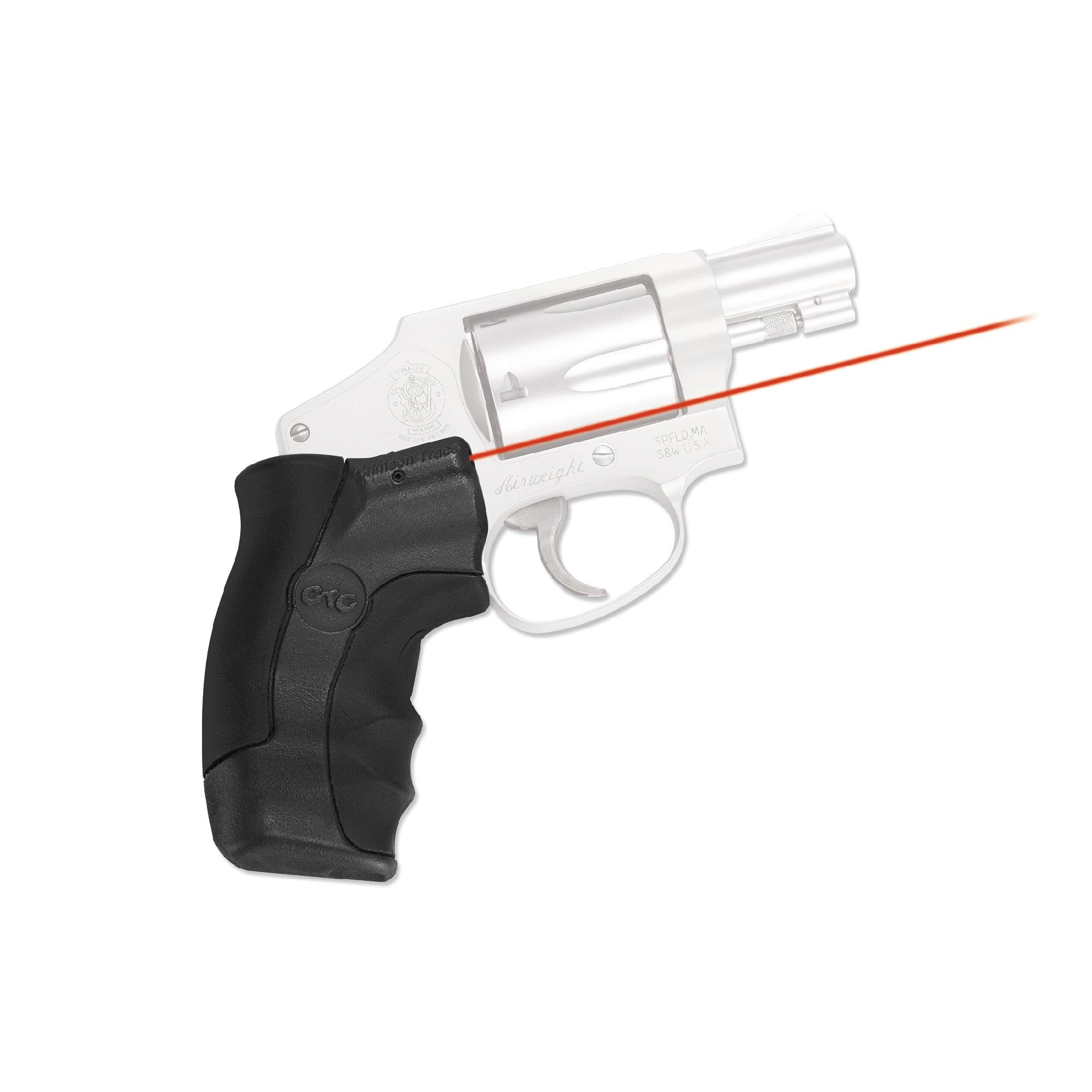 Crimson Trace LG-350 Smith & Wesson, J-Frame Round Butt Lasergrip, Red by Crimson Trace