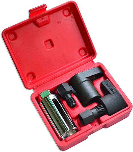 Automotive Oxygen Sensor Socket Removal Tool Wrench and Thread Chaser Set 5Pcs