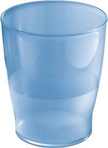 iDesign Franklin Wastebasket Trash Can - Cobalt Blue