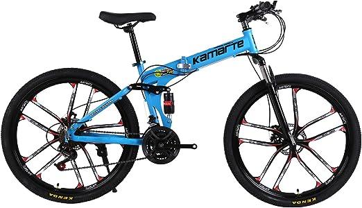 SKDE Bici de montaña Plegable de 26 Pulgadas, Bicicletas de Doble ...