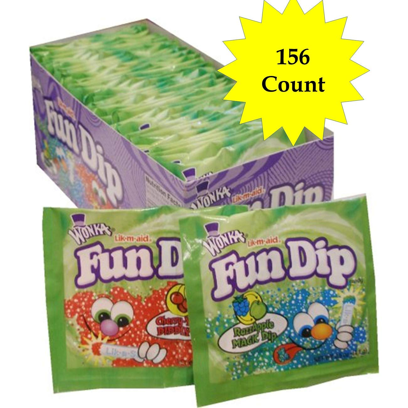 Fun Dip Assorted Flavor Party Pack - 156 Piece Pack, 0.43 oz Packets (156 Piece) by LIK-M-AID Fun Dip