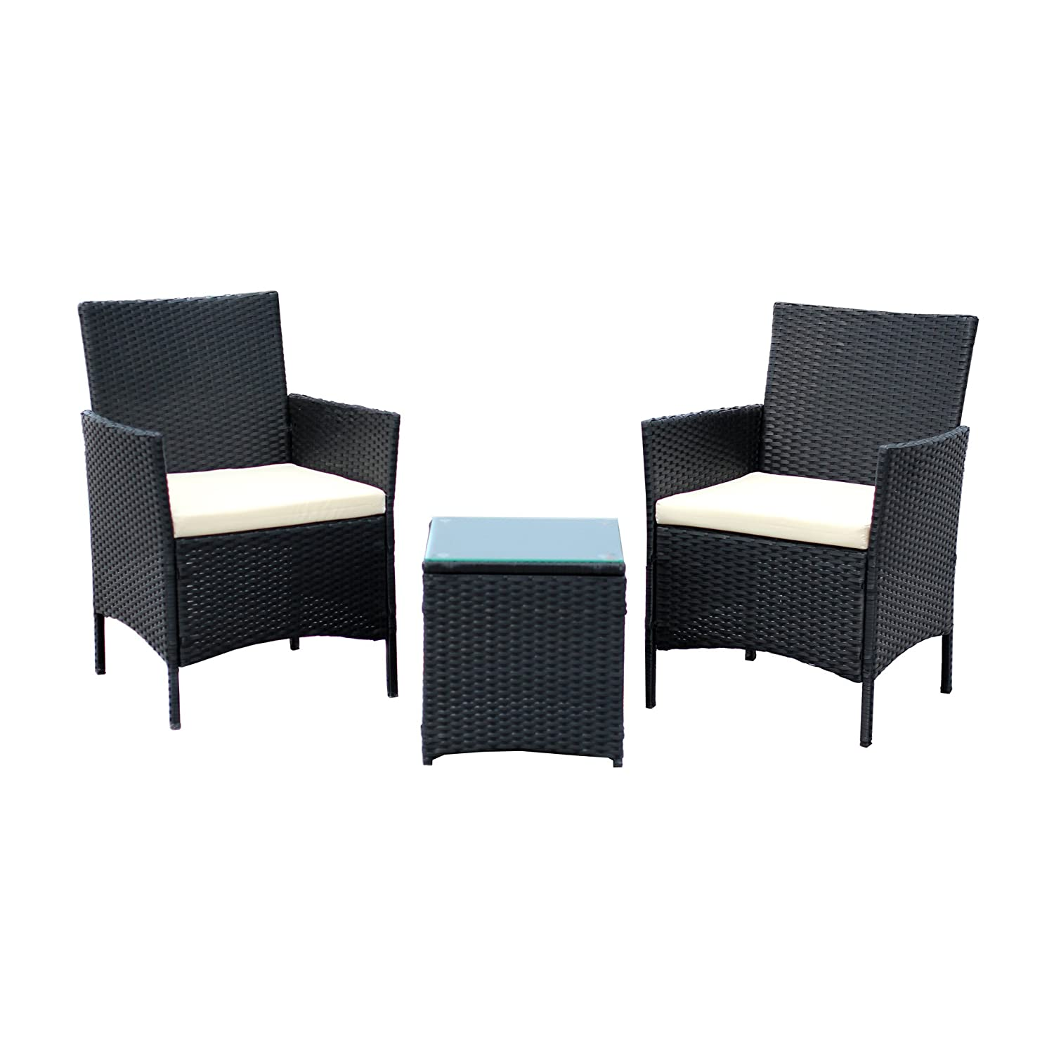 Amazon.com : EBS 3 Piece Patio Rattan Furniture Set, Clearance ...