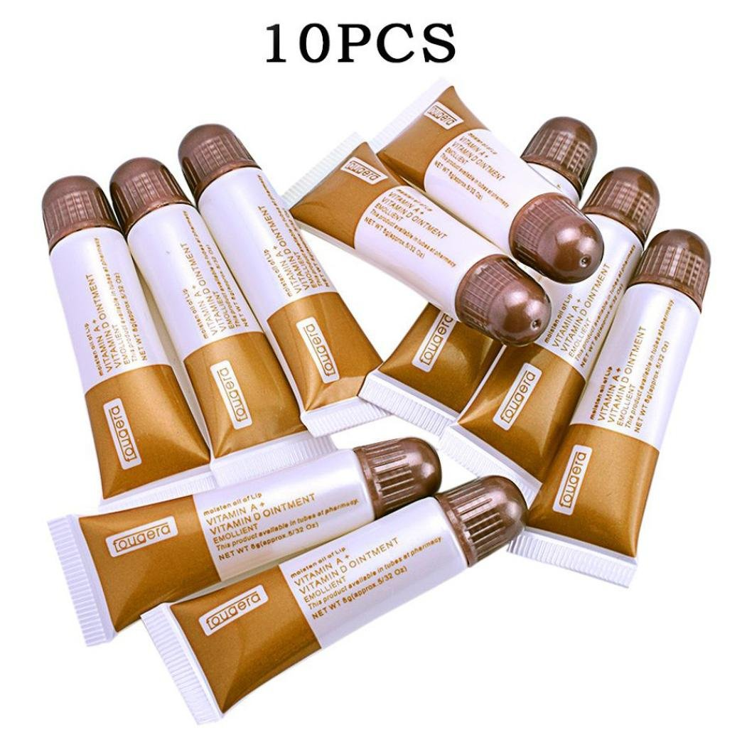 Lotus.flower 10 Pcs Vitamin AD Tattoo Repair Aftercare Cream Permanent Tattoo After Care for Makeup Vitamin Repair Ointment Recovery Anti Scar (10 Pcs)
