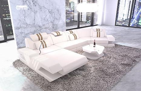 Perfekt Sofa Dreams Moderne Wohnlandschaft Venedig C Form In Leder Mit Ottomane