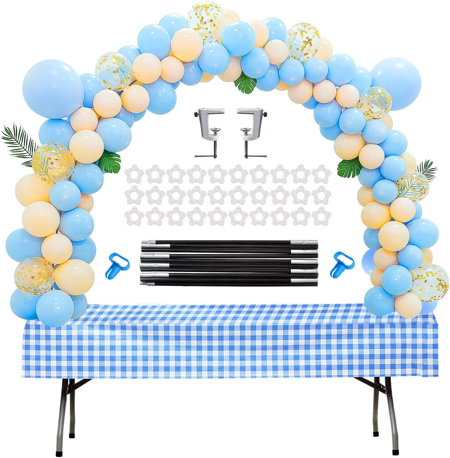 Table Balloon Arch Kit Adjustable for Baby Shower, Birthday, Wedding, Festival, Graduation Decorations and DIY Event Party Supplies