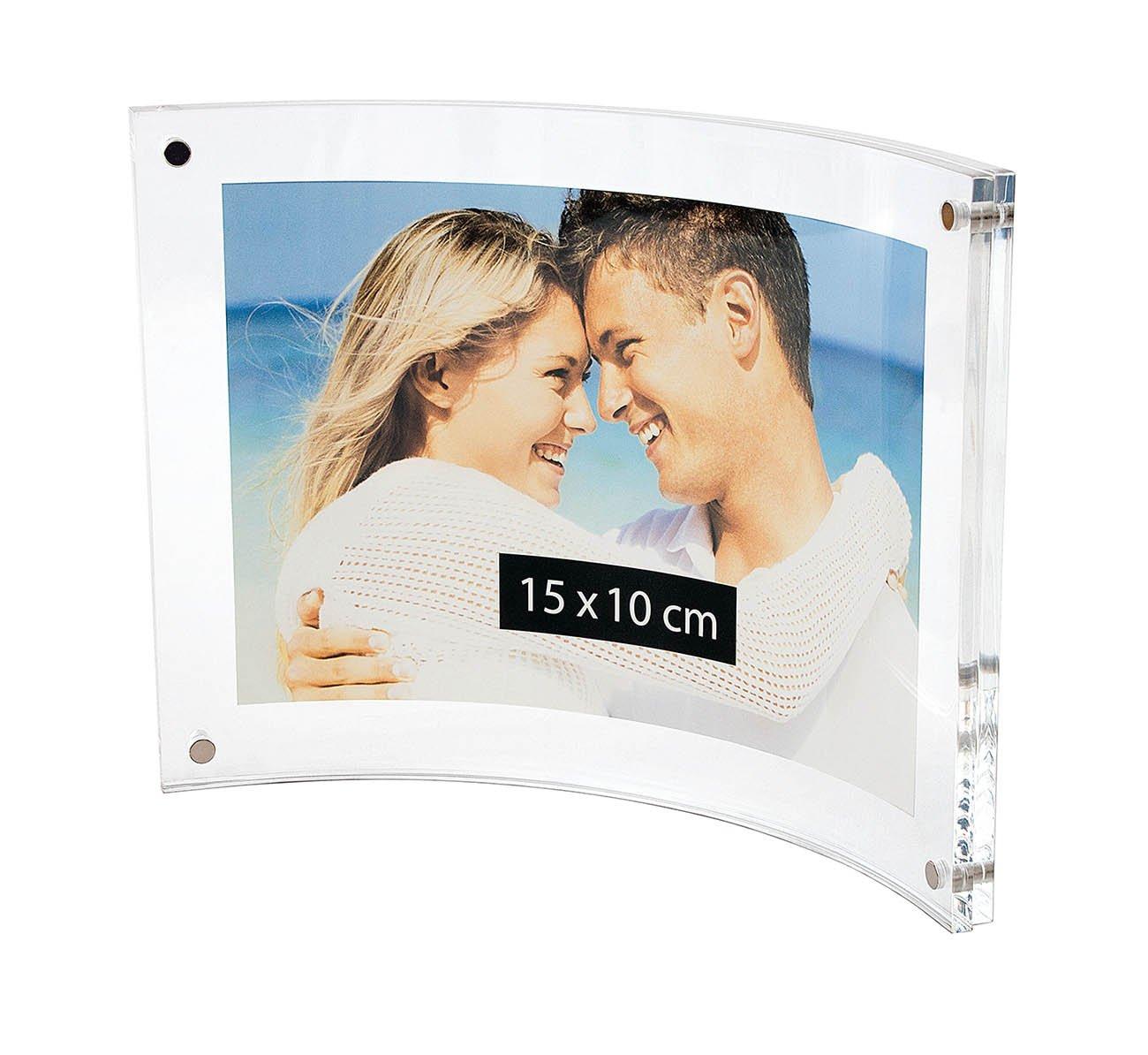Wedo 601516 Acryl Fotorahmen (Cristallic, mit Magnetverschluss ...