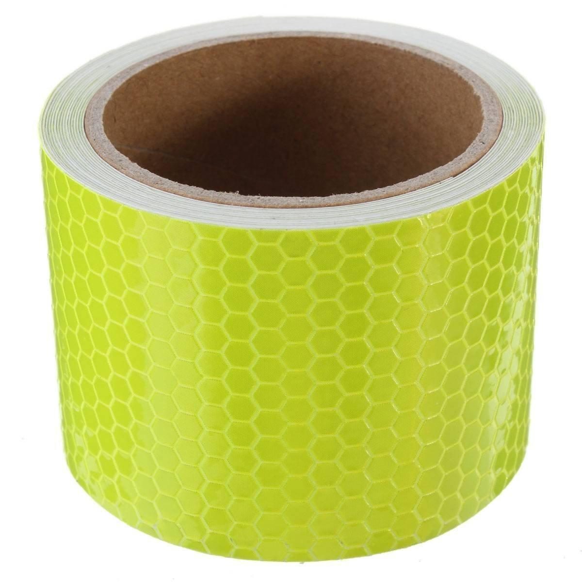 Tuqiang® - Cinta adhesiva reflectante de seguridad.Banda reflectante (5cm x 3m) color amarillo Muchkey