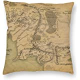 antcreptson Lord of The Rings Map Throw Pillow Decorative Pillow Case Home Decor Square 18x18 Inches Pillowcase