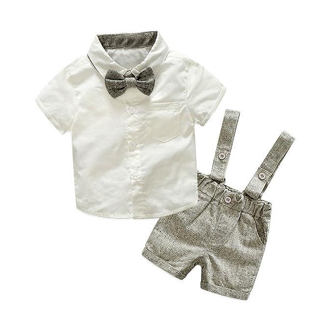 Amazon.com: joddie Haha estilo de verano bebé niño recién ...