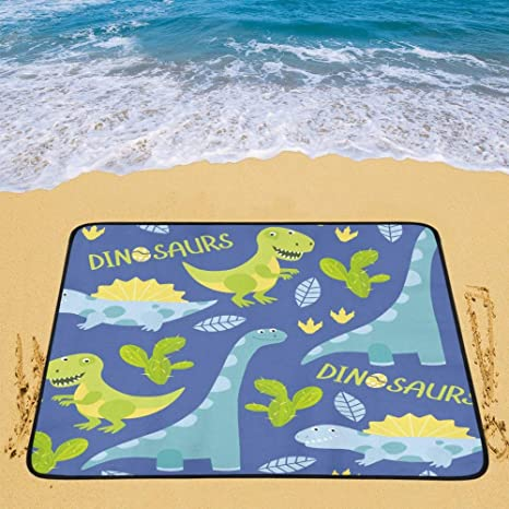 Camp Bedding Cute Alligator and Tropical Plants Pattern Portable and Foldable Blanket Mat 60x78 Inch Handy Mat for Camping Picnic Beach Indoor Outdoor Travel Outdoor Gear