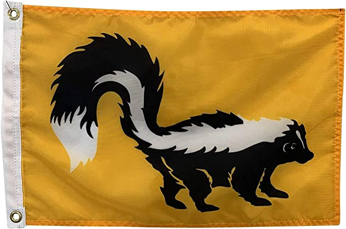 12x18 Skunk Boat Flag All Weather Nylon For Outdoor Use Made In Usa Garden Outdoor Amazon Com