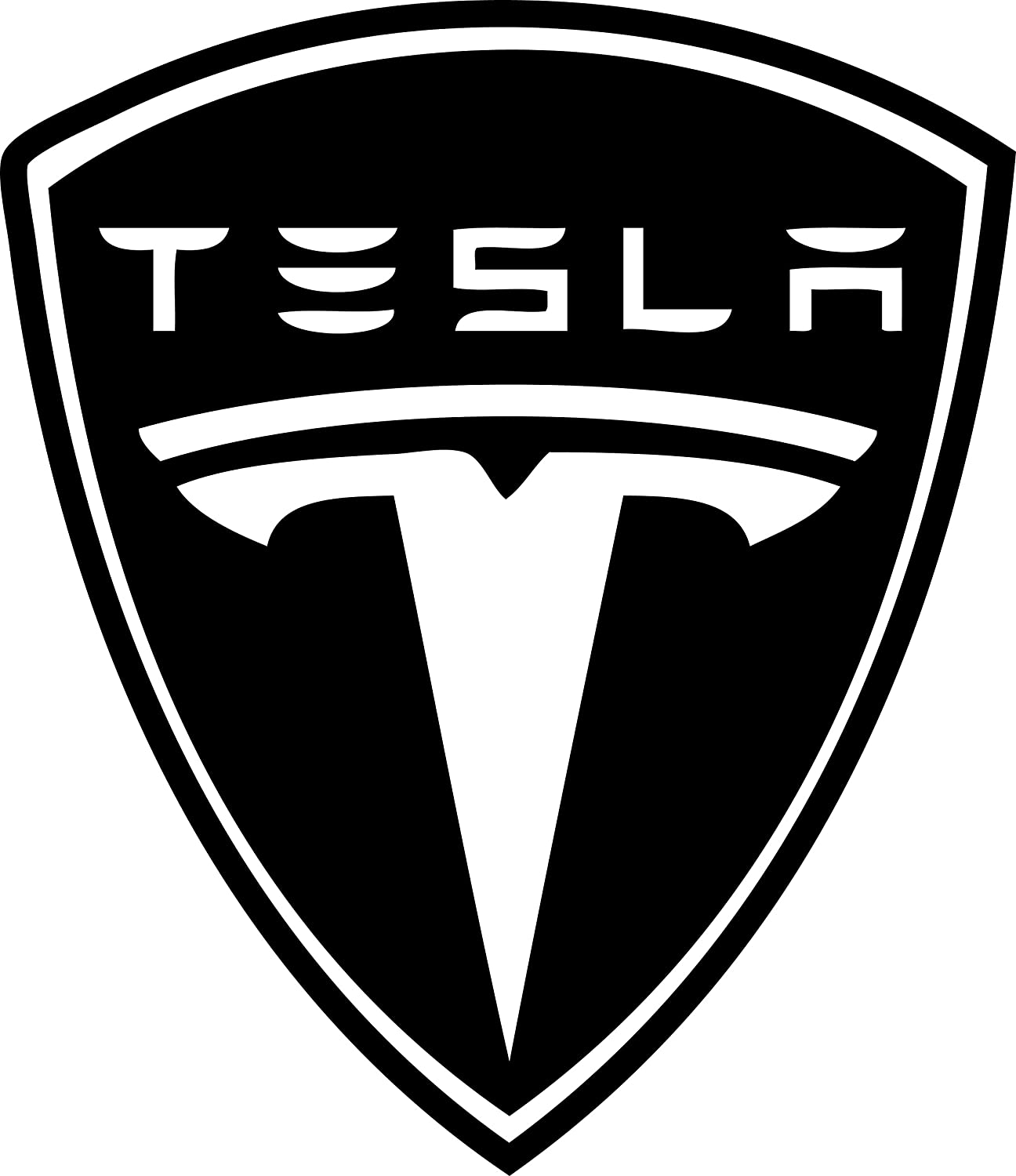 "RoboGoods 6/"" Tesla Motors Vinyl Decal Repositionable Sticker Choose Your Color Black"