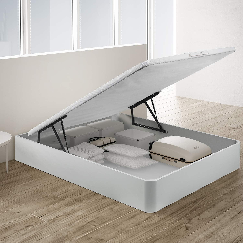 PIKOLIN, canapé abatible de almacenaje Color Blanco 135x190, Servicio de Entrega Premium Incluido