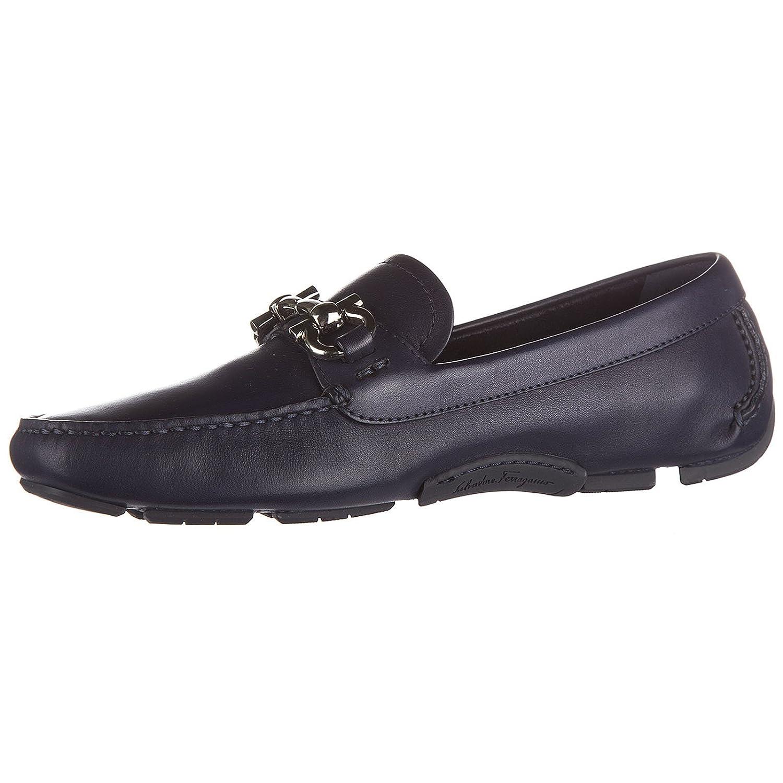 Salvatore Ferragamo Mocasines en Piel Mujer Parigi BLU EU 39 0656237: Amazon.es: Zapatos y complementos