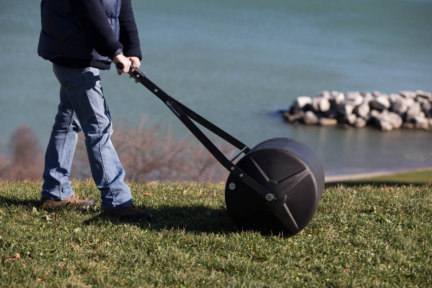 Precision Products 18-by-24-Inch Push/Pull Lawn Roller PLR1824