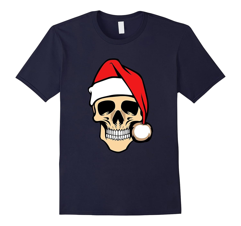 Skeleton Skull Santa Hat Goth Halloween Christmas Mashup-FL
