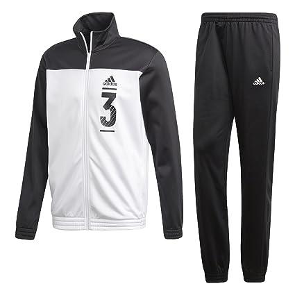 designer fashion 57e3e 9f988 Adidas Dbl Chándal, Todo el año, Hombre, Color Negro Blanco, tamaño