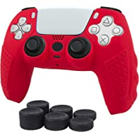 PS5 Controller Grip Cover,Anti Slip Silicone Skin Case Protector for Sony Play Station 5 Dual Sense Controller,with 6pcs…