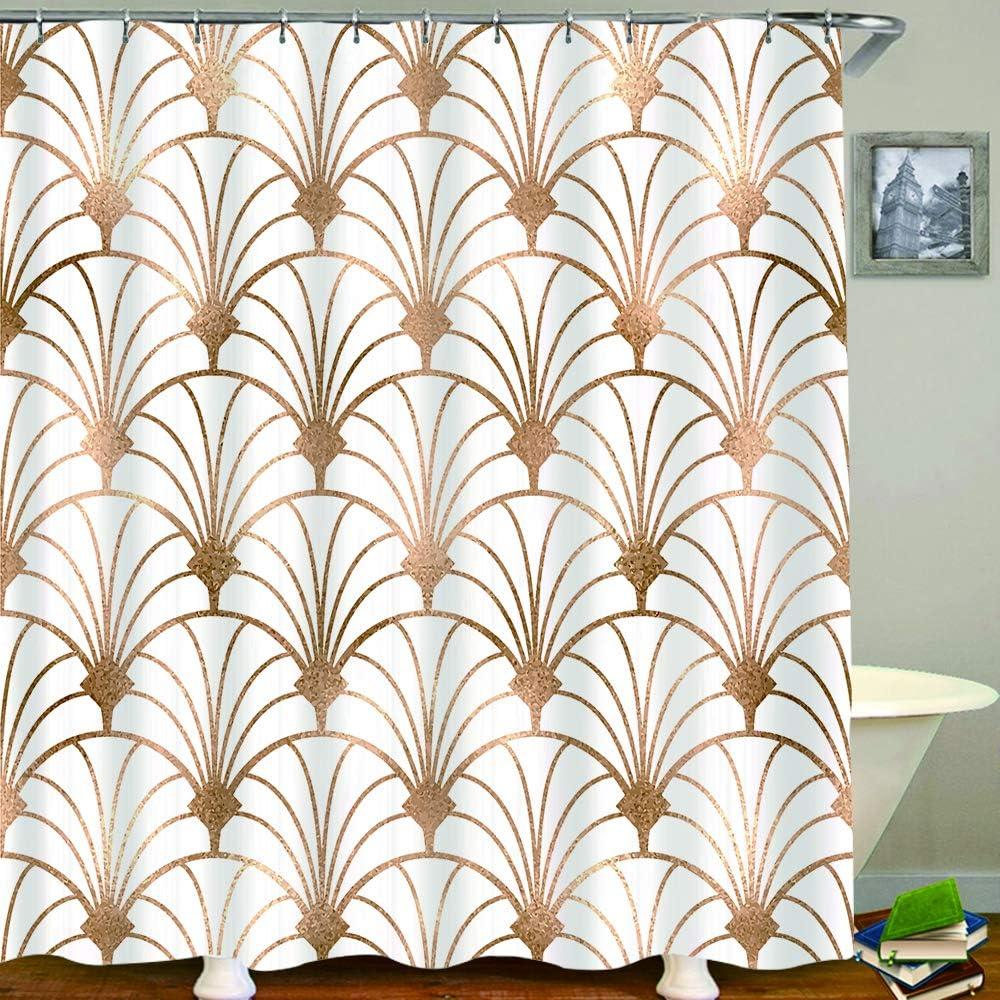 ZLWSSA Rideau De Douche Marocain Motif Oriental Authentique avec Vintage Style Byzantin Carrelage Effets Artwork Tissu Salle De Bains D/écor 150x180cm
