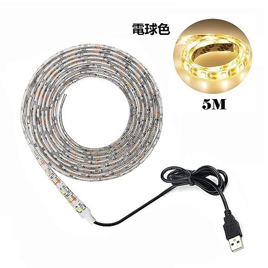 Tira LED De Luz,Led Blanco cálido Tira,USB Regleta de iluminación Interface alimentación