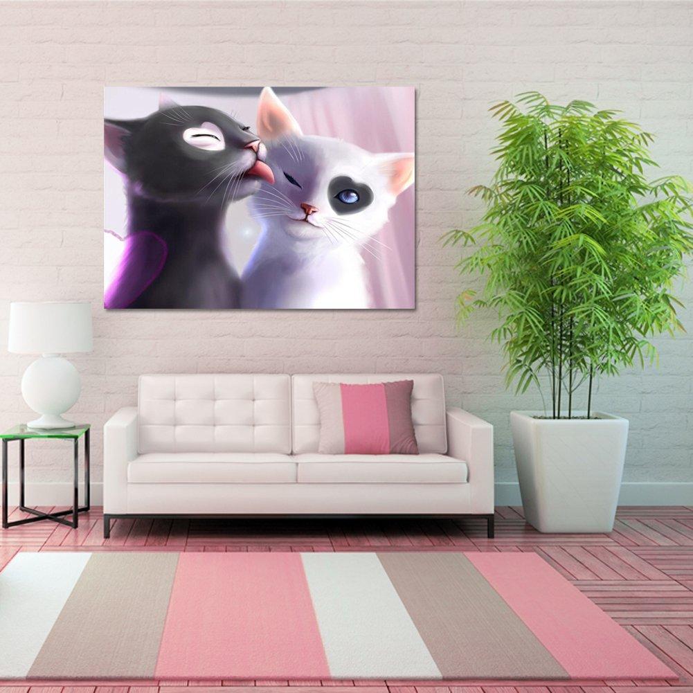 Ahomi Love Cats 5D DIY Diamond Painting Craft Home Decor