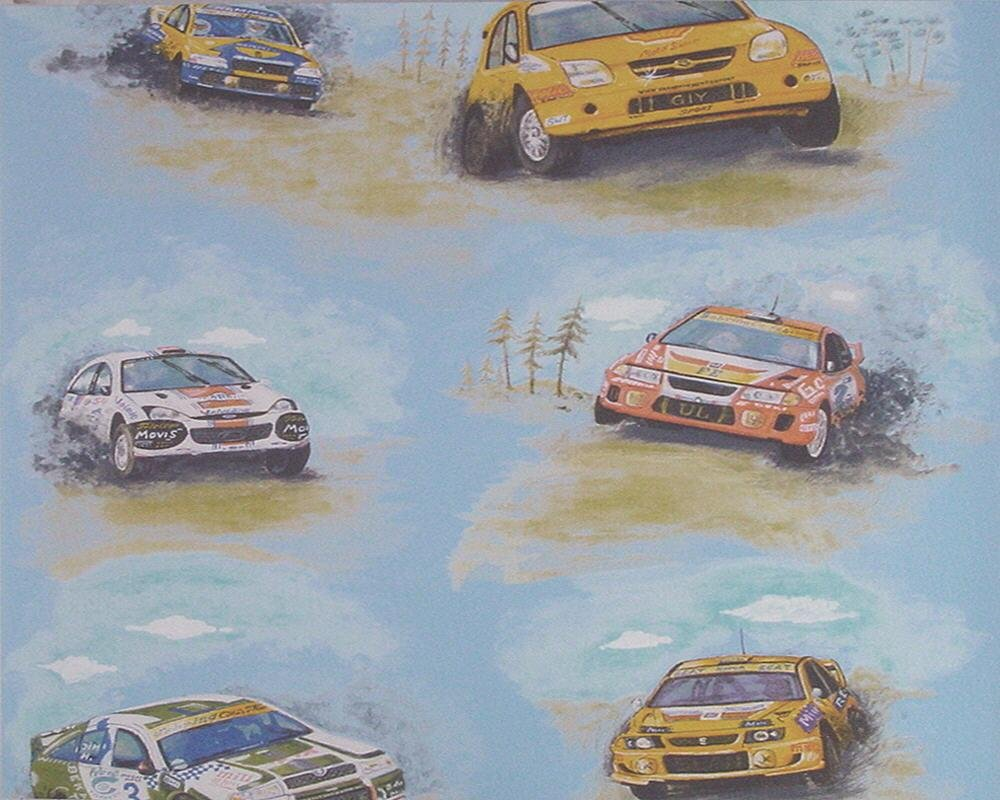 Tapete 7498-19 Autos Rallye Dekora Natur 5 Kinderzimmer Autorallye ...