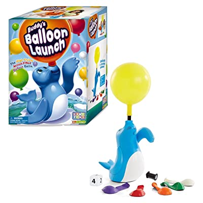 Game Zone Buddy's Balloon Launch Game – 2 to 4 Players – Ages 3+: Toys & Games