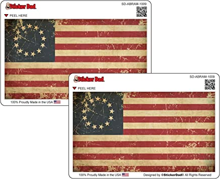 Us Betsy Ross American Flag Car Sticker Indoor Outdoor 6 x 3