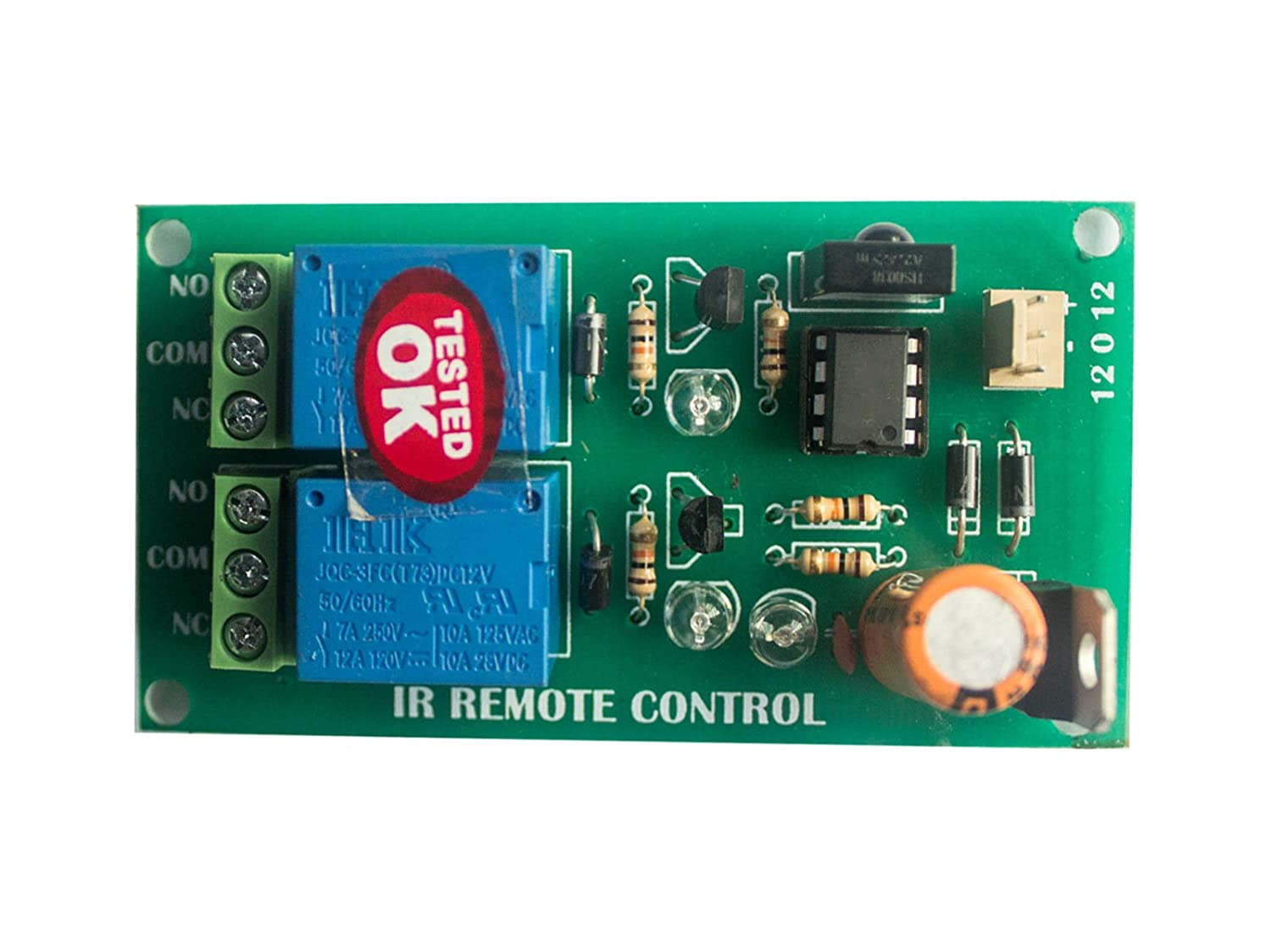 Wireless Infrared Ir Remote Control 2 Channel Board Home Circuit Industrial Automation Improvement