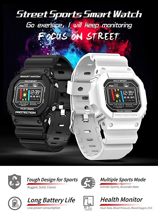 HNLZGL X12 Smart Watch per uomo Donna con cardiofrequenzimetro ...