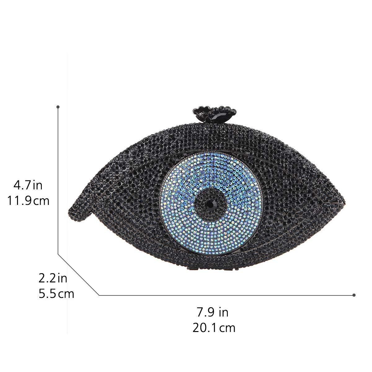 Amazon.com: fawziya Eye Shape Crystal boda Monederos y ...
