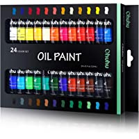 Ohuhu Oil Paint Set, 24 Oil-Based Colors, Artists Paints Oil Painting Set, 12ml x 24 Tubes Great Valentine's Day Back to…