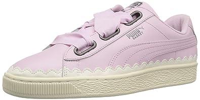 big sale 9ef2d 82527 PUMA Women's Basket Heart Scallop Sneaker