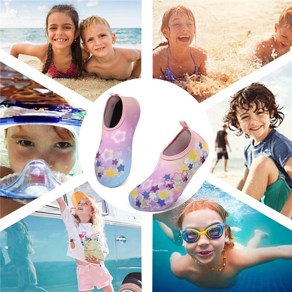 UBFEN Kinder Badeschuhe Wasserschuhe Aquaschuhe Barfu/ßschuhe Schwimmschuhe Strandschuhe Schnell Trocknend Surfschuhe Pool Yoga f/ür Jungen M/ädchen Baby