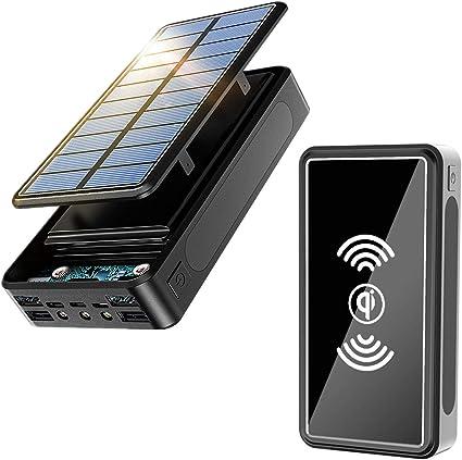 Power Bank Solar 30000Mah, Cargador Solar Portátil Batería ...