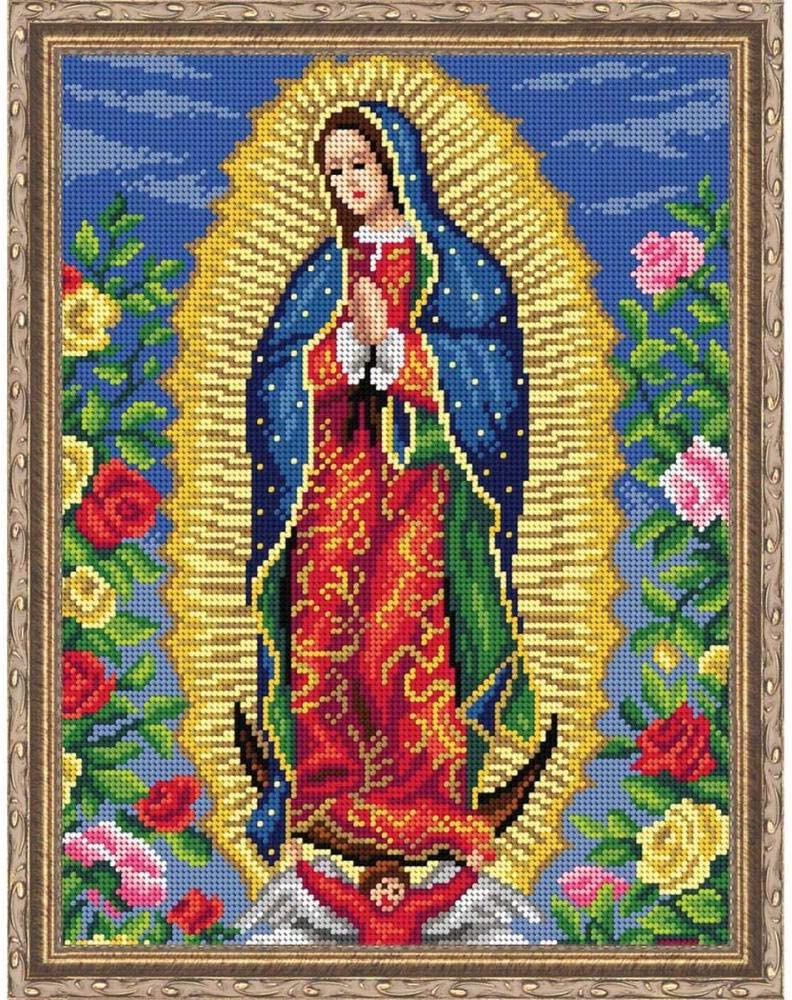Orchidea Our Lady of Guadalupe Kit /& Frame Needlepoint Canvas