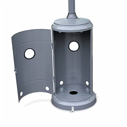 R/églable Alices Garden Chauffage dext/érieur gaz 12,5kW Parasol Chauffant en Acier Inoxydable Porte en Fa/çade et roulettes Finland