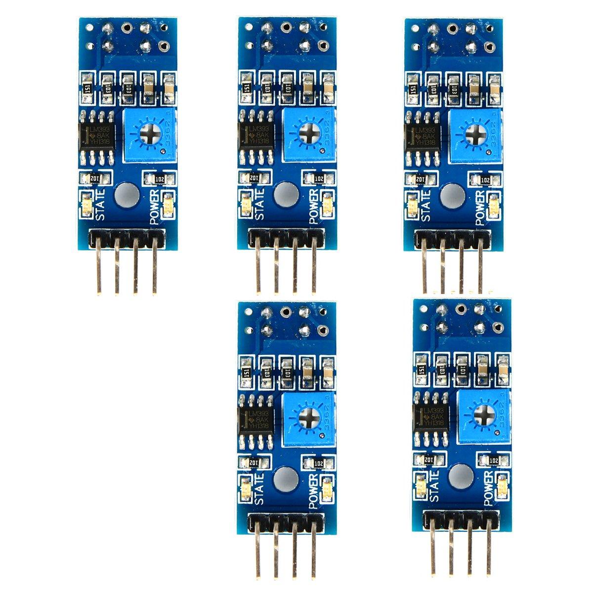 5 TCRT5000 IR Barrier Track Sensor Infrared Reflective Photoelectric ...