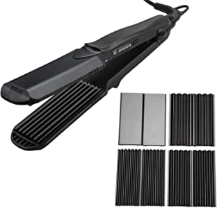 Flat Iron 4 in 1 Titanium Hair Styling Tools Professional Fast Straight Wave Curl Tools Set