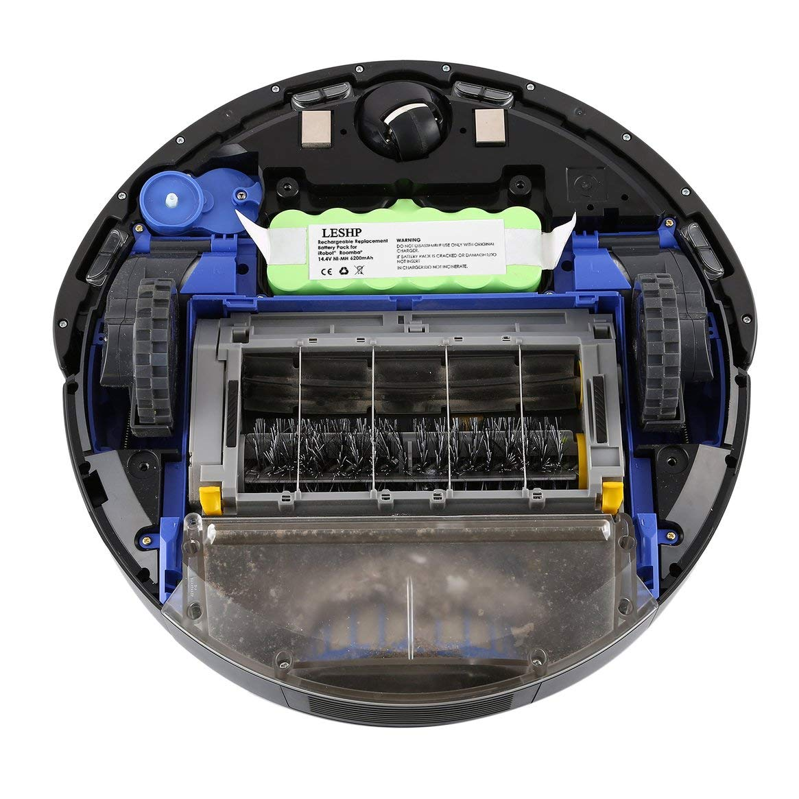 Batería NI-MH 14.4 V 6200 mAh para iRobot Roomba Aspirador Serie 500 600 700 800 - Verde: Amazon.es: Hogar