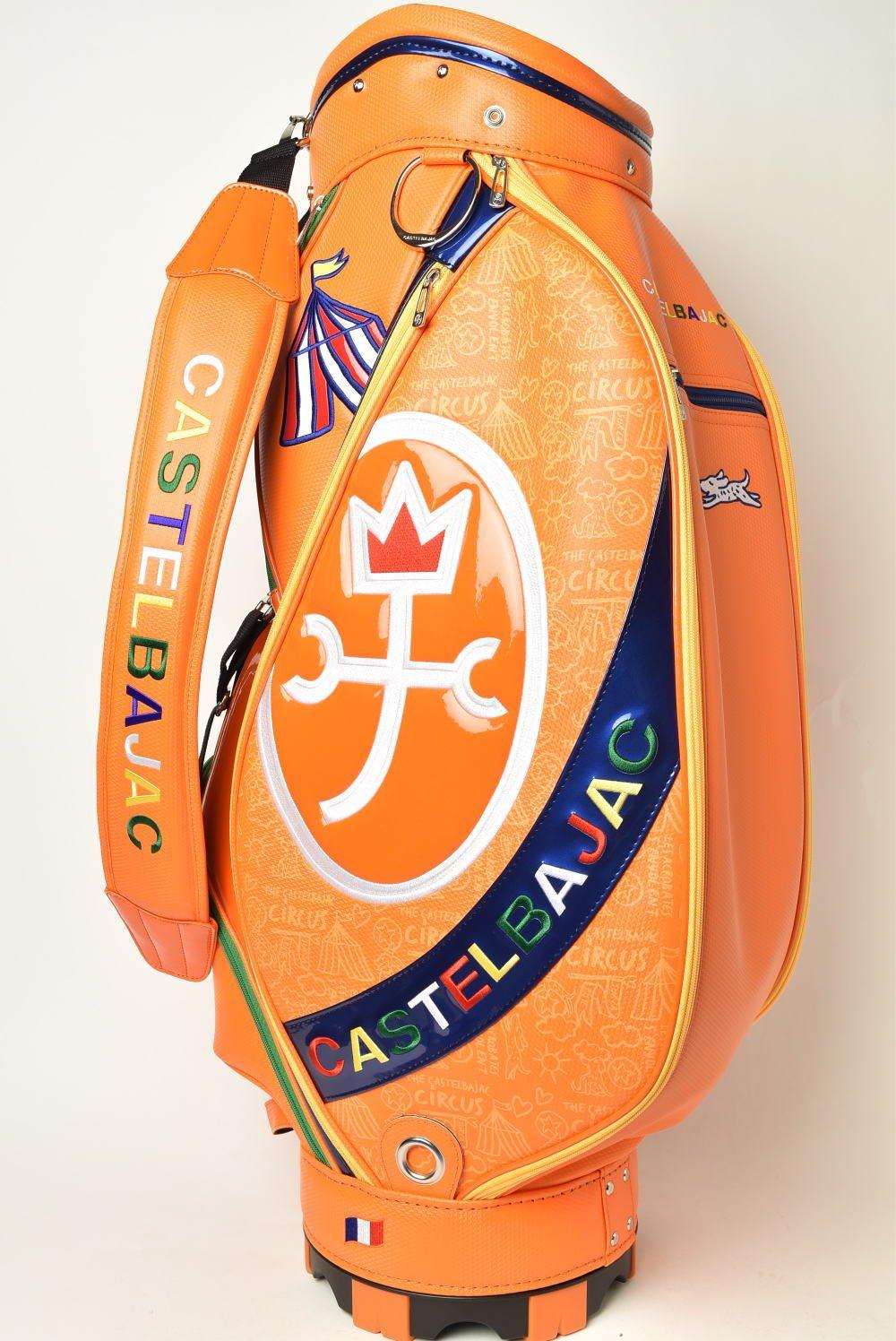 (カステルバジャック) CASTELBAJAC キャディバッグ メンズ スポーツ ゴルフ 23603-305 B07CKKQJZ8 オレンジ(20) オレンジ(20)