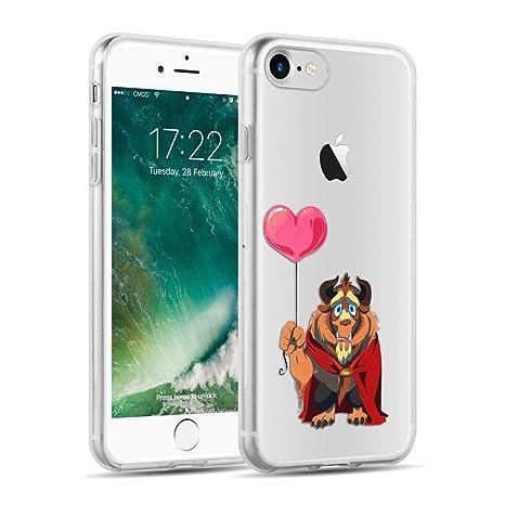 più economico d42cd 2bf5a Cover iPhone 8 Cover iPhone 7, JAMMYLIZARD [Sketch] Custodia in Silicone  Trasparente Semi Morbido Ultra Slim con Disegno per Apple iPhone 8 e Apple  ...