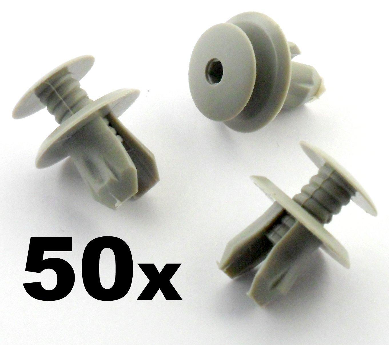 50 x Clips de fixation//trombones lumi/ère gris Transporter Eurovan