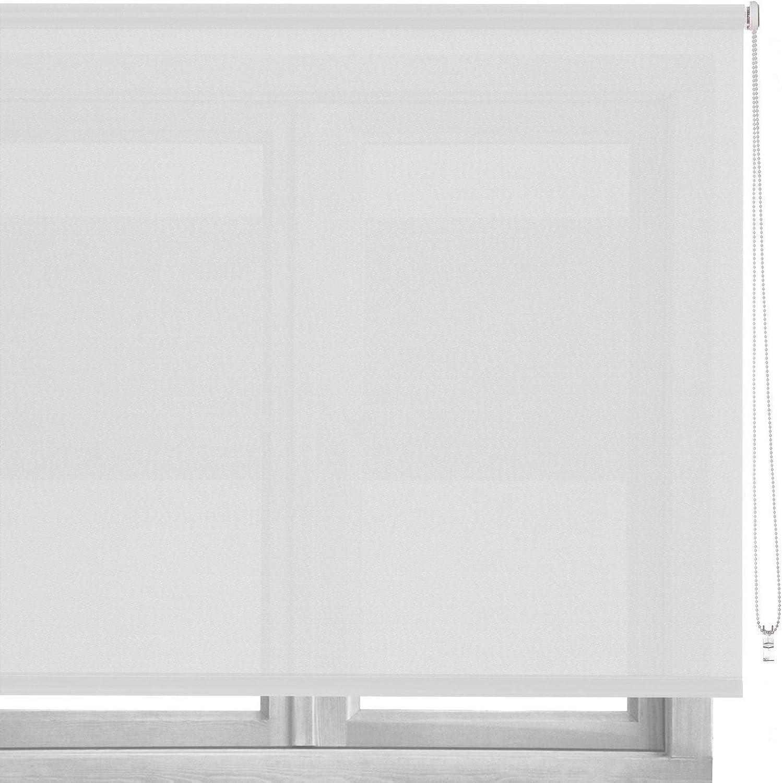 LOLAhome Estor Enrollable de Tela (100 x 250 cm, Blanco): Amazon ...