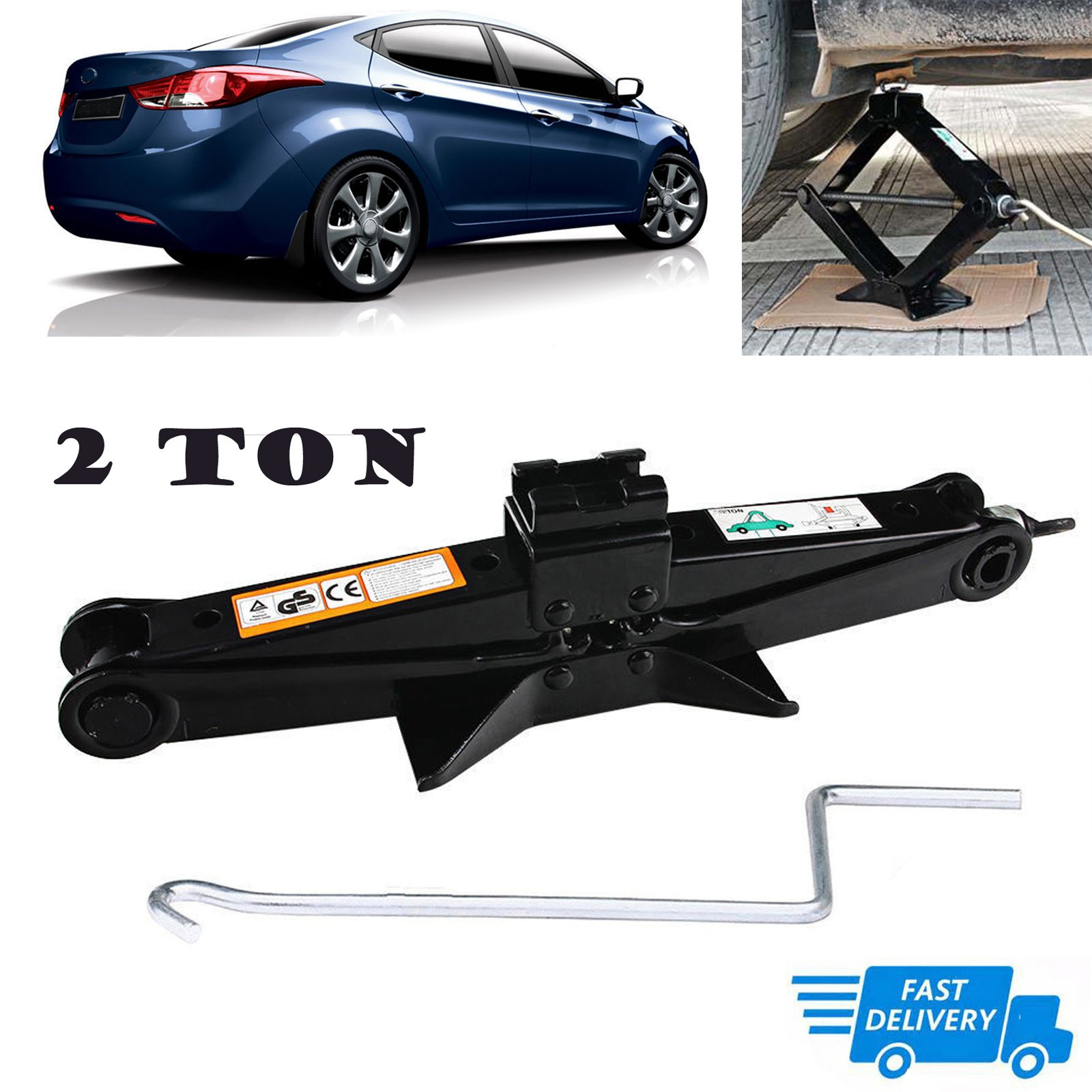 Scissor Jack 2 Ton with Crank Handle Rustproof Car Stabilizer Lift for Hyundai Sonata/Elentra/Genesis/Veloster US Stock
