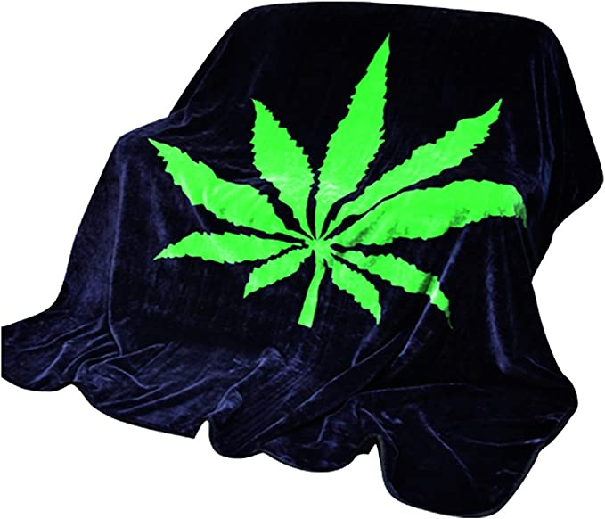 XIMING Comfy Marijuana Leaves Background Baby Blanket Toddlers Newborns Plush Receiving Blanket for Boys Girls