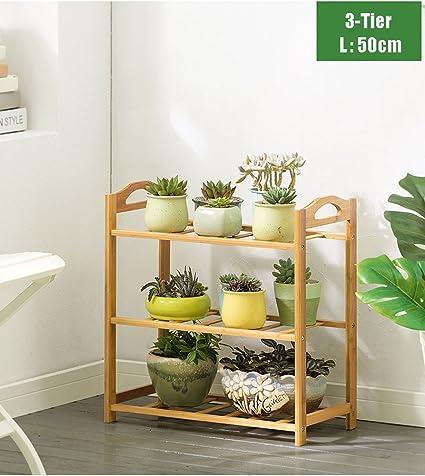 Amazon.com: lxla- madera maciza maceta de flores soporte de ...