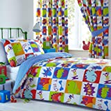 COT BED SIZE Toddler Duvet Cover Set Boys Dinosaur Bedding Quilt Bed Sets
