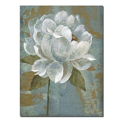 Amazon Jrmissli White Flower Oil Painting Handmade Oil