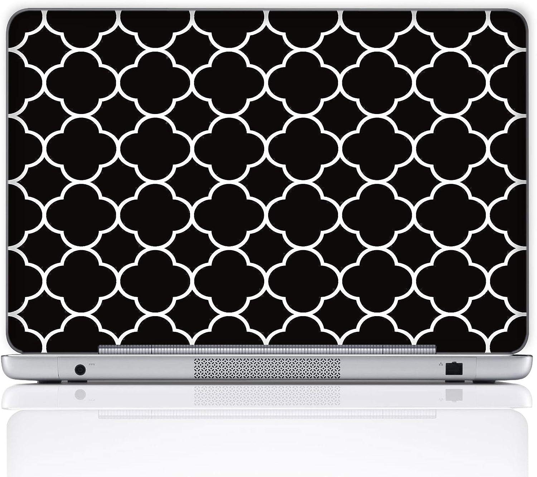 Meffort Inc 11.6 12 Inch Laptop Notebook Skin Sticker Cover Art Decal (Included 2 Wrist pad) - Quatrefoil